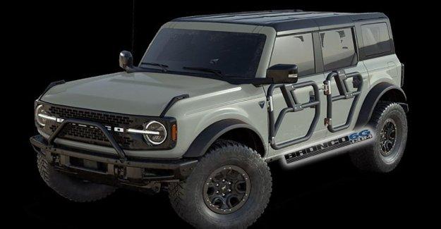 Imagen filtrada sugiere 2021 Ford Bronco ha 'convertibles' tubo de puertas
