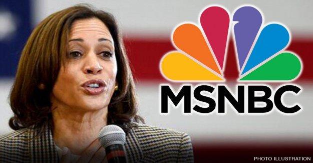 MSNBC corresponsal de rasgado para dar Kamala Harris 'más suave entrevista que he visto nunca'