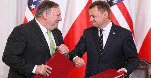 Pompeo signos nueva defensa lidiar con Polonia