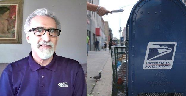 Postal sindicato de trabajadores de la cabeza, dice el voto por correo es seguro, llamadas partidista de los ataques en contra de USPS 'vergonzoso'