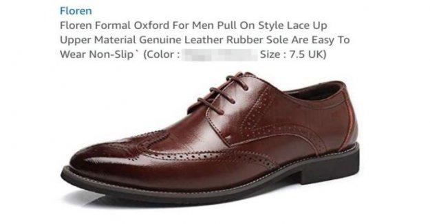 Sitio de Amazon anuncia zapatos usando racial mancha