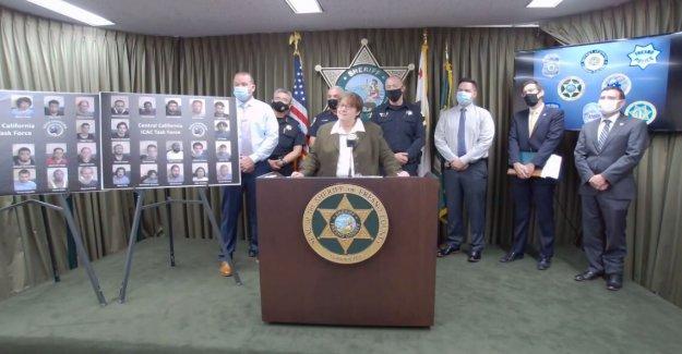 Treinta y cuatro hombres arrestados por cargos relacionados con la organización para cumplir con un menor para tener sexo