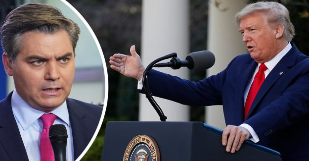 Trump le corta la pregunta por la periodista de CNN Jim Acosta acerca de NOSOTROS coronavirus tasa de mortalidad: la Falsa Noticia de la CNN, hold it'