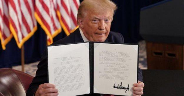 Trump signos del virus de la orden de ayudas después del colapso de las conversaciones de