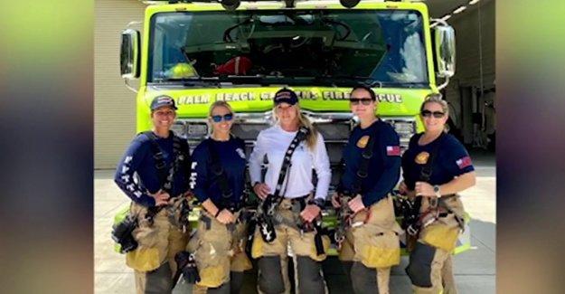 Los bomberos de la Florida de hacer historia como el departamento de la primera tripulación femenina