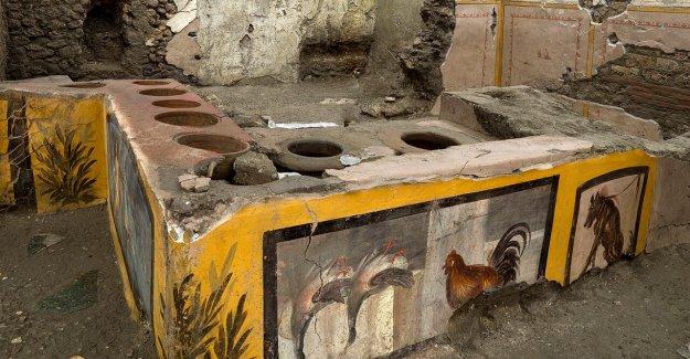 Pompeya cavar descubre los secretos de la desenterrado restaurante de comida rápida