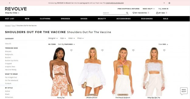 'Vacuna listo: la marca de Moda Giran burlaban de la camisa de la sección