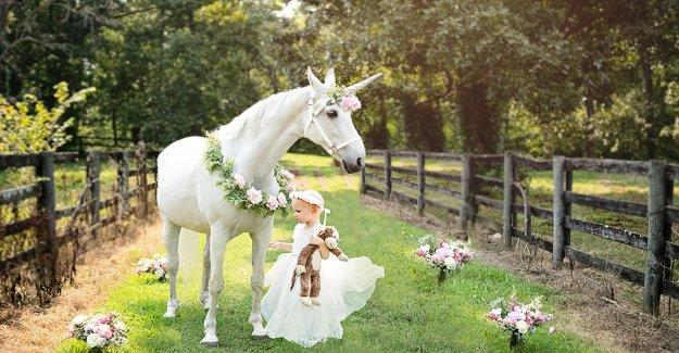 niña de 3 años que lucha contra el cáncer cerebral recibe visita de ensueño con mágico 'unicornio'