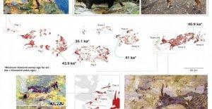 El arte rupestre, en Indonesia, la más antigua de la escena de caza