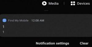 Ese mensaje en la noche que asustaba a los propietarios de los Samsung Galaxy