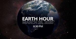 La Hora de la tierra, los monumentos en la oscuridad durante una hora en el nombre de clima