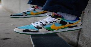 Ben & Jerry's, Nike SB colaboración Grueso Dunkys de la zapatilla de deporte de la reventa para tanto como $4G