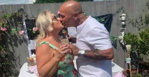 Cancelada Cornish boda en escena en el jardín de Gales