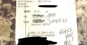 Carolina del norte restaurante recibe $1,000 punta, sobre la reapertura del día: no Hay tanta bondad en este mundo