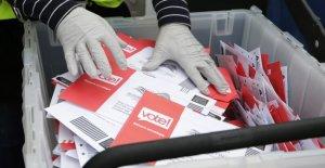 Casi dos tercios a favor de voto por correo, pero la amplia partidista dividir: encuesta
