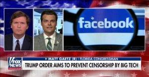 Gaetz, advierte 'big tech va a robar esta elección de Donald Trump y el pueblo Estadounidense' sin acción