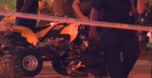 La policía de Atlanta oficial de afectados por ATV, 'gravemente herido durante la segunda noche de protestas
