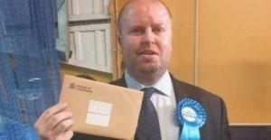 La policía romper 'fiesta' Tory MP casa