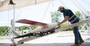 Los Drones de entregar suministros médicos y equipos de protección personal en NOSOTROS