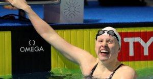 Medallista de oro olímpico de Lilly Rey de formación para el 2021 Juegos en Indiana estanque