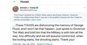 Twitter y el Trump: una disputa de años en la fabricación finalmente estalla