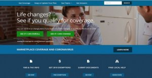 Ventana de archivo para el seguro de salud del gobierno de acercarse por coronavirus de los solicitantes de