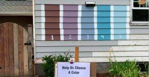 Washington familia del público a votar por el nuevo color de la casa se hace viral