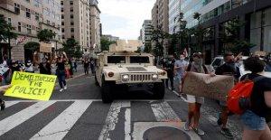 900 militares en servicio activo de la policía envió a la zona de DC para las protestas están siendo enviados a casa el viernes