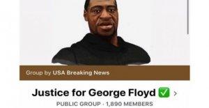Facebook elimina el 'auténtico' de George Floyd grupos