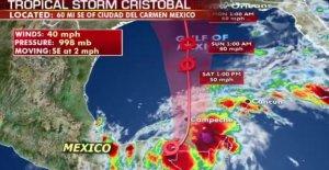 La Tormenta Tropical Cristóbal se empapa de México, la Costa del Golfo de los impactos probable que llegue el domingo