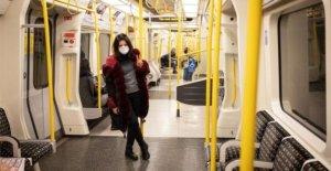 Libre de máscaras en el transporte de Londres