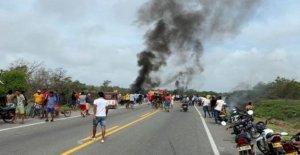 Colombiano petrolero del combustible inferno mata a siete