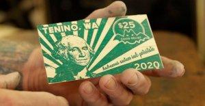 El estado de Washington de la ciudad de impresiones propias de madera de divisas por el coronavirus del socorro
