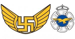Finlandia la fuerza aérea de silencio gotas símbolo de la esvástica