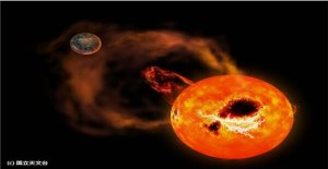 Gigantes 'superflare' manchada en los alrededores de la estrella