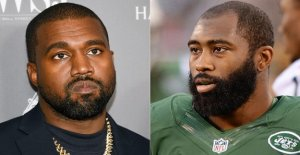 Kanye West presidencial del bombo, se apoya en el campeón del Super Bowl