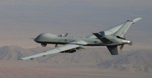 La Fuerza aérea de tecnología deja de drones de ser baleado