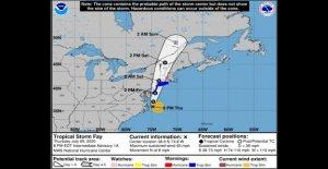 La Tormenta Tropical Fay tiene su mirada puesta en el Noreste; aterrizaje esperado viernes