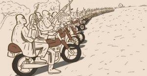La motocicleta bandidos mareando el norte de Nigeria