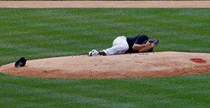 Lanzador de los Yankees de Masahiro Tanaka 'todo bien' después del golpe en la cabeza por unidad de línea