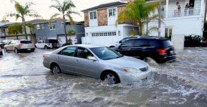 Las mareas altas de inundación de la costa de California