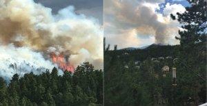 Los incendios forestales en Utah, Colorado fuerza de evacuación de incendios condiciones de quedarse en el oeste