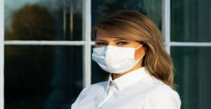 Melania Trump puestos de fotos en cara cubierta, promueve la máscara resistente