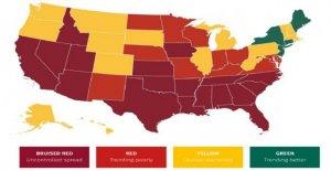 Nuevo coronavirus mapa muestra que más de la mitad de todos los estados están en trending mal' o 'propagación descontrolada'