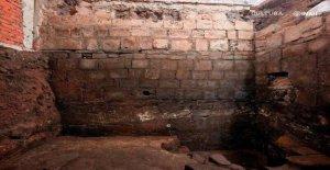 Palacio azteca y conquistador de la casa descubrió debajo histórico de la Ciudad de México la construcción de