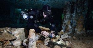 Prehistóricos mina descubierta en la cueva inundada complejo en México