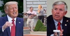 Trump pueden intervenir en el caso de San Luis pareja empuñando armas de fuego a los manifestantes, Missouri el gobernador dijo
