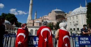 Turquía del presidente formalmente hace una mezquita de Santa Sofía