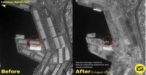 Beirut explosión de devastación en nuevas imágenes de satélite