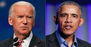Biden alabanzas de Israel-EAU acuerdo de paz anunciado por el Triunfo, los créditos de la administración Obama